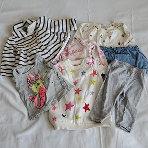 Baby Gap Girl Sweater Clothing Lot 6-12 Months